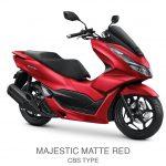 pcx 160 cbs majestic matte red